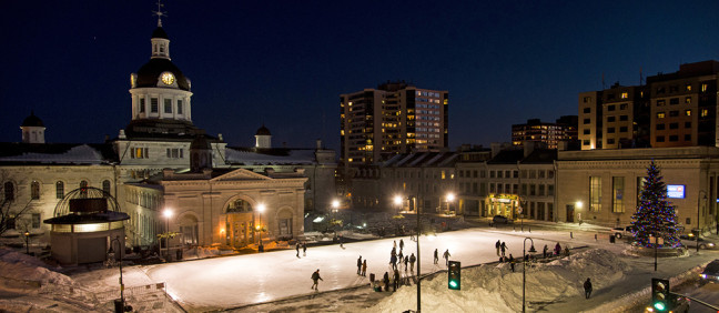 Kingston Ontario - market square skating rink