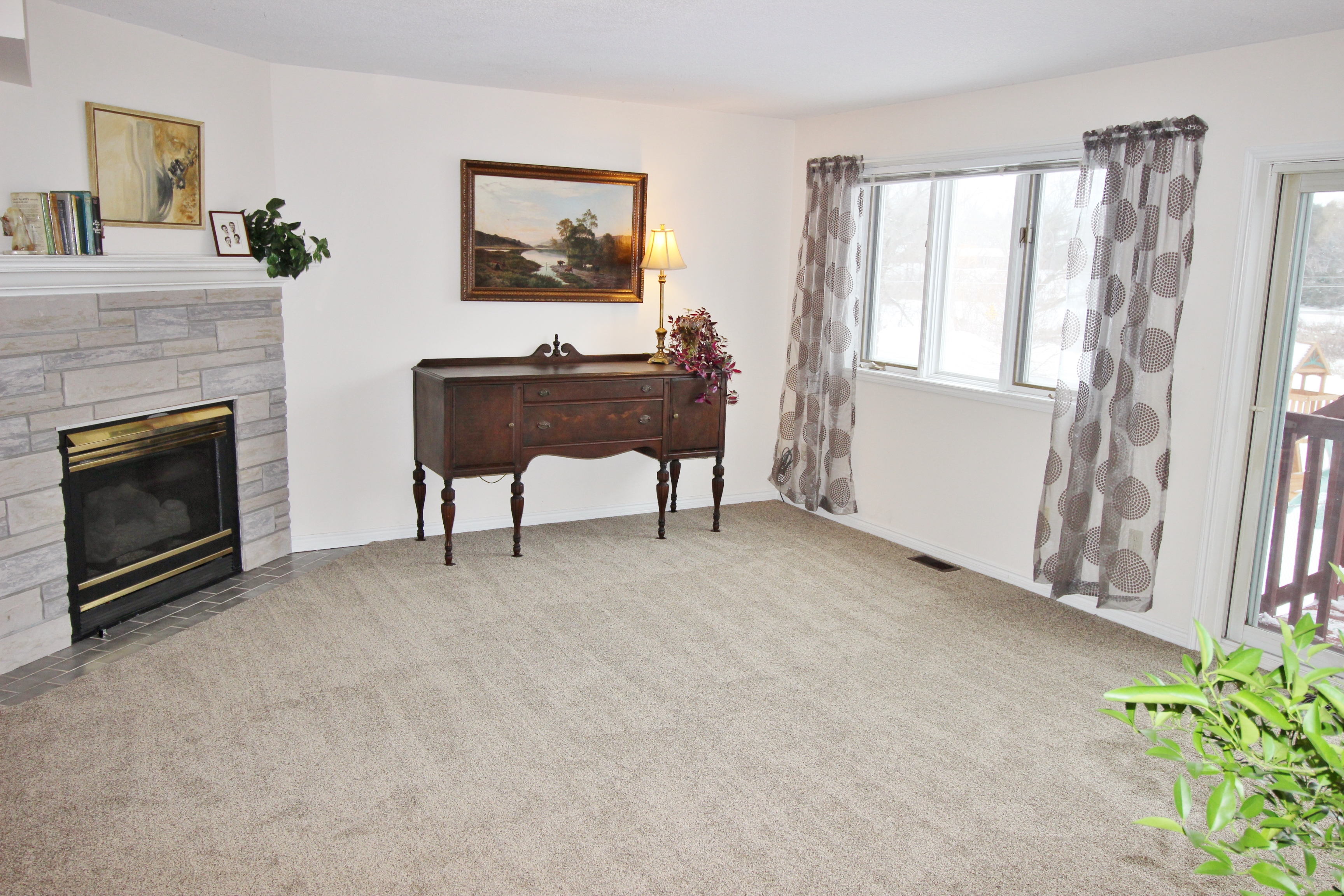 It's better to show good space with an empty room then a room with furniture that has an awkward layout online